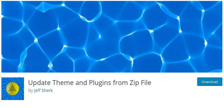 portada del plugin Update theme and plugins from zip file