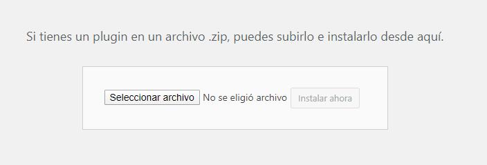 Actualizar plugins desde zip