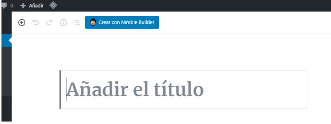 boton para editar desde el personalizador de WordPress con nimble page builder