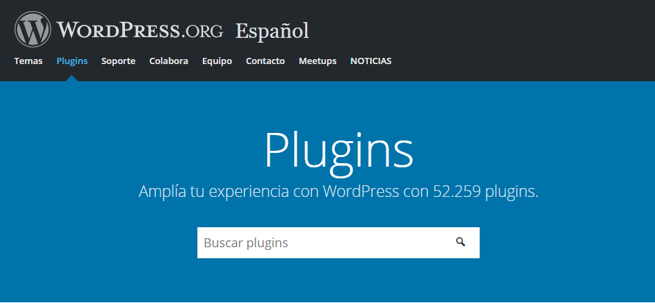 repositorio plugins wordpress